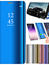 Case For Samsung Galaxy A8 2018 A8 Plus 2018 Shockproof Mirror Flip Auto Sleep/Wake Up Full Body Cases Solid Colored Hard PU Leather for