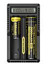 UM20 배터리 충전기 Smart 휴대용 USB LCD 용 Li-ion (리튬이온) 18650, 18490, 18350, 17670, 17500, 16340(RCR123), 14500, 10440