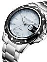 สำหรับผู้ชาย นาฬิกาแนวสปอร์ต นาฬิกาอิเล็กทรอนิกส์ (Quartz) เงิน ปฏิทิน ระบบอนาล็อก ความหรูหรา - ขาว สีดำ