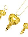 Conjunto de joias - Coracao Doce, Fashion Incluir Dourado Para Casamento / Festa / Brincos