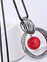 Pentru femei Coliere cu Pandativ - Imitație de Perle European, Modă Alb, Rosu 70 cm Coliere Bijuterii Pentru Casual