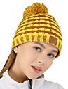 VEPEAL Bone de Trilha Cranio Caps A Prova de Vento Manter Quente Esticar Inverno Amarelo Mulheres Equitacao Viajar Caminhada Retalhos Adulto