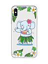 Huelle Fuer Apple iPhone X / iPhone 8 Plus Muster Rueckseite Cartoon Design / Elefant Weich TPU fuer iPhone X / iPhone 8 Plus / iPhone 8