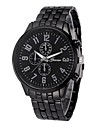 Homme Montre Habillee Chinois Chronographe / Creatif / Grand Cadran Acier Inoxydable Bande Mode Noir