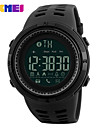 SKMEI Herre Sportsur Digital Watch Digital Silikone Sort 30 m Vandafvisende Bluetooth Kalender Digital Afslappet Mode - Guld Sort Kaffe Et år Batteri Levetid / Stor urskive