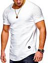 T-shirt Per uomo Sport Essenziale / Moda citta Con stampe, Tinta unita / A strisce Rotonda - Cotone / Manica lunga / Primavera