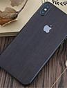 1 piece Autocollant de Protection pour iPhone X Anti-Rayures Apparence Bois Motif PVC iPhone X