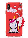 Custodia Per Apple iPhone X / iPhone 8 Resistente agli urti / Fantasia / disegno / Fai da te Per retro Unicorno Morbido TPU per iPhone X / iPhone 8 Plus / iPhone 8