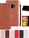Coque Pour Samsung Galaxy S9 S7 edge Porte Carte Portefeuille Avec Support Clapet Coque Integrale Couleur Pleine Dur faux cuir pour S9