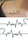 10 pcs Tetovací nálepky dočasné tetování Romantická série Tělesné Arts paže / zápěstí / rameno