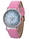 Xu™ 여성용 드레스 시계 손목 시계 석영 창조적 캐쥬얼 시계 모조 다이아몬드 PU 밴드 아날로그 꽃 패션 블랙 / 화이트 / 블루 - 그린 블루 핑크 1 년 배터리 수명 / 큰 다이얼
