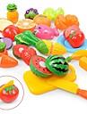 مجموعات لعبة مطبخ لعب تمثيلي مأكولات فاكهة التفاعل بين الوالدين والطفل قذيفة البلاستيك مرحلة ما قبل المدرسة للصبيان للفتيات ألعاب هدية 18 pcs