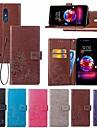 غطاء من أجل LG LG Q7 / Q6 محفظة / حامل البطاقات / مع حامل غطاء كامل للجسم ماندالا نمط / فراشة قاسي جلد PU إلى LG V30+ / LG V20 / LG K10 2018