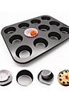 1st Metall Värmetålig 3D Multifunktion Bröd Muffin Rektangulär Cake Moulds Bakeware verktyg