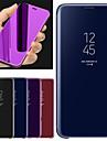 Etui Käyttötarkoitus Huawei Y6 (2018) Tuella / Peili Suojakuori Yhtenäinen Kova PU-nahka varten Huawei Y6 (2018)