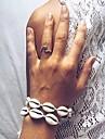 Γυναικεία Ενιαία Δέσμη Βραχιόλι με χάντρες Όστρακο Όστρακο κυρίες Στυλάτο Μοντέρνο Γλυκός Βραχιόλια Κοσμήματα Λευκό / Μαύρο Για Καθημερινά Αργίες