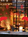 Window Film & Stickers Decoration Chinoiserie / Folk Style Holiday PVC(PolyVinyl Chloride) Glossy / Window Sticker / Hall / Shop / Cafe