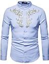 Camicia Per uomo Vintage / Boho Con ricami, Tribale Colletto Mao / Manica lunga
