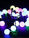 5M 20 LEDs Christmas Halloween decorative lights festive strip lights-Large beads light pink light (220V)
