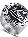Herre Vintage Stil Indgraveret Midi Ring Signet Ring Titanium Staal Vintage Motering Smykker Gull / Soelv Til Gave Daglig 8 / 9 / 10 / 11 / 12
