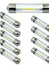 10pcs 41mm מכונית נורות תאורה 1 W COB 100 lm 1 LED תאורת איתות עבור