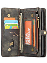 CaseMe Etui Til Samsung Galaxy S9 Plus / S9 Lommebok / Kortholder / Flipp Heldekkende etui Ensfarget Hard TPU til S9 / S9 Plus / S8 Plus