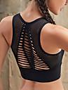 Sexig Sportbehåar Behåtopp Vadderad Mycket stöd för Yoga Motion & Fitness Löpning Svart Rosa Mörk Marin Andningsfunktion Hög effekt Snabb tork Dam Elastan / Svettavvisande
