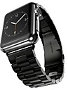 스테인레스 스틸 시계 밴드 견장 용 Apple Watch Series 3 / 2 / 1 블랙 / 실버 / 골드 23cm / 9 인치 2.1cm / 0.83 인치