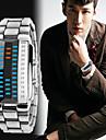 Herre Sportsur Japansk Digital Rustfrit stål Sort / Sølv 30 m Vandafvisende Kalender Kronograf Digital Armring Mode - Sort Sølv To år Batteri Levetid