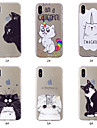 Capinha Para Apple iPhone XS / iPhone XS Max Estampada Capa traseira Gato Macia TPU para iPhone XS / iPhone XR / iPhone XS Max