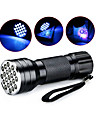 D12UV-1-0-2 LED Flashlights / Torch Black Light Flashlights / Torch Handheld Flashlights / Torch LED 5mm Lamp 21 Emitters 1 Mode Waterproof Ultraviolet Light Camping / Hiking / Caving Everyday Use