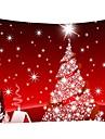 Natale / Famiglia Decorazione della parete 100% poliestere Modern Decorazioni da parete, Arazzi a muro Decorazione