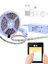 5M Flexibele LED-verlichtingsstrips / Verlichtingssets / Smart Lights 300 LEDs SMD5050 1 AC-kabel / 1 x 2A voedingsadapter RGB Waterbestendig / APP Control / Knipbaar 100-240 V 1 set