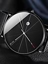 สำหรับผู้ชาย นาฬิกาข้อมือ นาฬิกาอิเล็กทรอนิกส์ (Quartz) สแตนเลส เงิน / ทอง / Rose Gold 30 m ปฏิทิน Creative ดีไซน์มาใหม่ ระบบอนาล็อก ไม่เป็นทางการ ที่เรียบง่าย - สีดำ สีเงิน กุหลาบ / หนึ่งปี