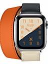 시계 밴드 용 Apple Watch Series 4/3/2/1 Apple 가죽 루프 가죽 / 천연 가죽 손목 스트랩