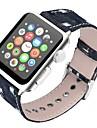 ekte laer Klokkerem Strap til Apple Watch Series 4/3/2/1 Svart / Blaa / Brun 23cm / 9 tommer 2.1cm / 0.83 Tommer