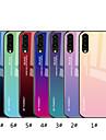 غطاء من أجل Huawei P20 Pro / P20 lite مرآة / نموذج غطاء خلفي لون متغاير قاسي زجاج مقوى إلى Huawei P20 / Huawei P20 Pro / Huawei P20 lite
