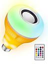 YWXLIGHT® 1kpl 12 W 1050-1150 lm B22 / E26 / E27 LED-älyvalot 48 LED-helmet SMD Himmennettävissä / Ääniaktivoitu / Kauko-ohjattava RGB 85-265 V