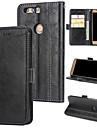 Etui Käyttötarkoitus Huawei Honor 8 Lomapkko / Korttikotelo / Flip Takakuori Yhtenäinen Kova PU-nahka varten Honor 8