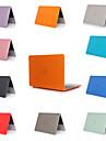 MacBook ноутбук чехол для Apple MacBook Air 11 12 13 15 сплошной цветной материал ПВХ для Mac Book New Pro 13,3 15 дюймов с сенсорной панелью