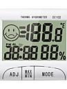DC102 Mini / Baerbar Luftfuktighetsmaalere -10℃~50℃ Til Kontor og Laering, Hjemmeliv, Maaler temperatur og fuktighet