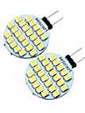 2pcs 2 W 200 lm G4 2-pins LED-lampen T 24 LED-kralen SMD 3528 Decoratief Warm wit / Koel wit 12 V / 2 stuks / RoHs
