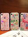 Case Kompatibilitás Apple iPhone XR / iPhone XS Max Galvanizálás / Áttetsző / Minta Fekete tok Növények / Flamingó Puha TPU mert iPhone XS / iPhone XR / iPhone XS Max