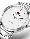 Erkek Spor Saat Elbise Saat Bilek Saati Quartz Paslanmaz Çelik Beyaz Darbeye Dayanıklı Gündelik Saatler Analog Dijital Moda Minimalist - Beyaz Bir yıl Pil Ömrü