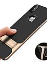 Kılıf Na Jabłko iPhone XS / iPhone XS Max Odporny na wstrząsy / Z podpórką / Powłoka Osłona tylna Solidne kolory Twardość TPU na iPhone XS / iPhone XR / iPhone XS Max