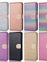 Etui Käyttötarkoitus Samsung Galaxy J6 / J4 Lomapkko / Korttikotelo / Tuella Suojakuori Yhtenäinen / Kimmeltävä Kova PU-nahka varten J8 (2018) / J7 (2017) / J7 (2018)