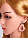 Damen Tropfen-Ohrringe Diamantimitate Ohrringe Mehrfarbig Schmuck Rosa / Dunkelrot / Beige / Weiss Fuer Hochzeit Party Verlobung Klub Bar 1 Paar