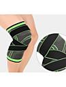 Kniebrace Knie mouw voor Basketbal Hardlopen Fitness Vochtregelerend Compressie Rekbaar Verstelbaar Unisex Nylon Lycra Spandex 1 stuks Sports & Buitenshuis Zwart Oranje Groen