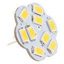 2.5W G4 LED Bi-pin Lights 9 SMD 5630 200lm Warm White 3000K DC 12V