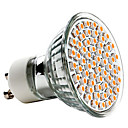 3w gu10 led spotlight mr16 60 smd 3528 240lm varm vit 2700k AC 220-240v 1pc